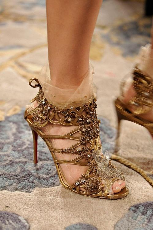 Gold Wedding Shoe Inspiration found on www.inspiredwomen.co.za