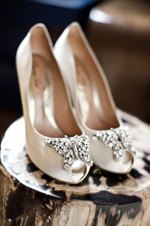 Butterfly wedding shoe