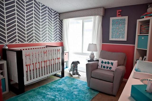 modern girl nursery