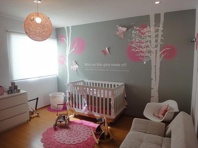 pink modern nursery