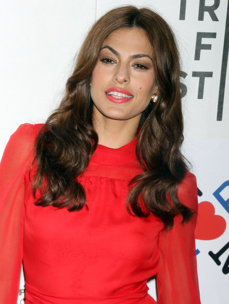 Eva-Mendes-Last-Night-Premiere-Tribeca-Film-Festival-Red-Lips-Red-Dress-April-26-2011-New-York