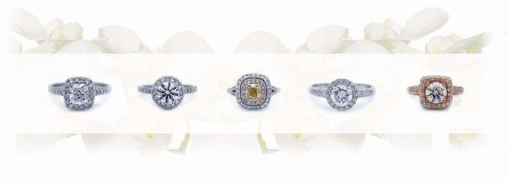 Princess Diamonds - Diamonds on white backgroundLR