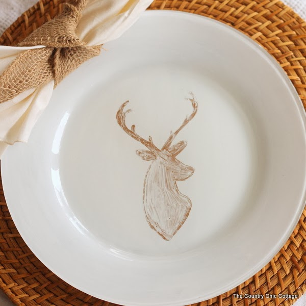 diy deer painted plates-002