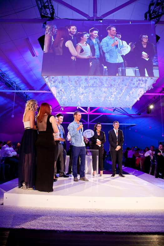 Luke Dale-Roberts receiving award at 2013 Restaurant Awards