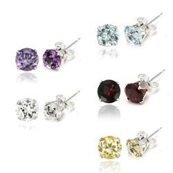 Glitzy-Rocks-Sterling-Silver-Gemstone-6mm-Stud-Earrings-Set-of-5-9-3-8ct-TGW-P14535302c