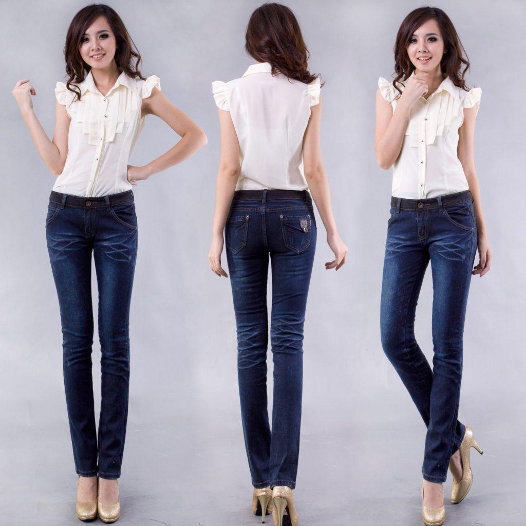 Stylish-Women-s-Long-Pants-Straight-Denim-Trousers-Jeans-Free-Shipping